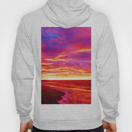 Deep Red Saturated Sunset  Hoody