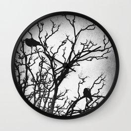 Rustic Crows Black Birds Tree Modern Cottage Chic Art A465B Wall Clock