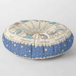 Vintage Astrology Zodiac Wheel Floor Pillow