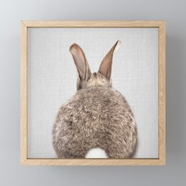 Rabbit Tail - Colorful Framed Mini Art Print