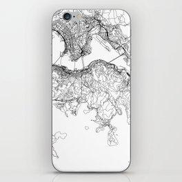 Hong Kong White Map iPhone Skin