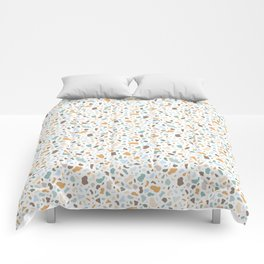 Colorful smooth stones terrazzo pattern Comforters