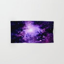 Orion nebUla. : Purple Galaxy Hand & Bath Towel
