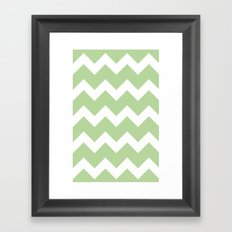 Chevron - Mint Framed Art Print