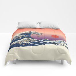 The Great Wave of Pug Comforters
