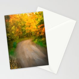 Path Traveled to Autumn Stationery Cards