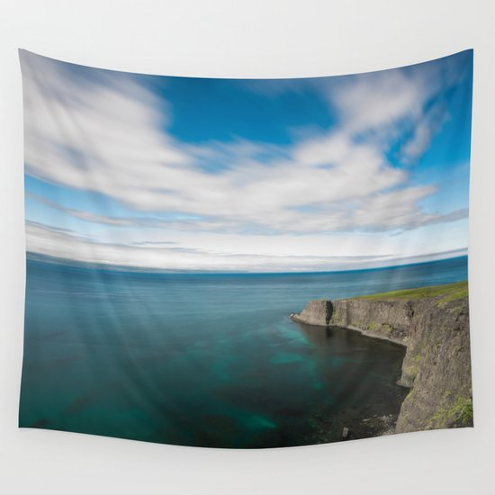 House by the Sea Wall Tapestry