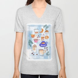 Coffee Love Unisex V-Neck