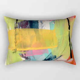 Hopeful[2] - a bright mixed media abstract piece Rectangular Pillow