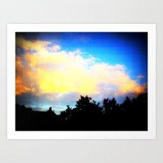 Digital Sky Art Print