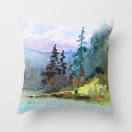 Nature: Cool Shores of Freedom Throw Pillow