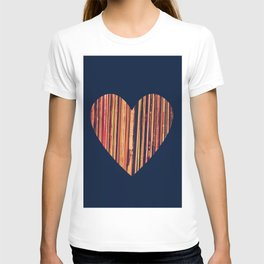 Valentine's Day Vinyl Records Heart Hipster T-shirt