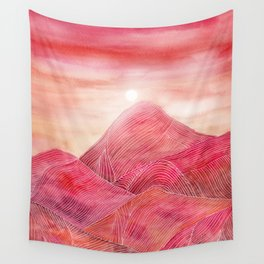 Lines in the mountains XXIII Wall Tapestry