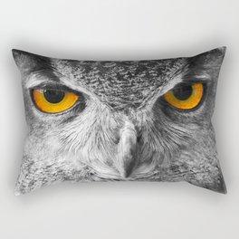 The Eyes of a European Eagle Owl Rectangular Pillow