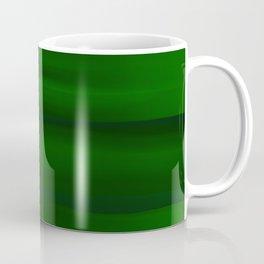 Emerald Green and Black Abstract Coffee Mug