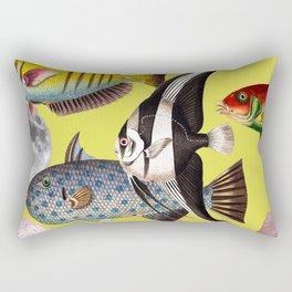 Fish World yellow Rectangular Pillow