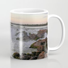 Mekong River Li Phi Waterfalls, sunrise, dawn, Laos Coffee Mug