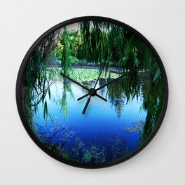 Reflections on the lake Wall Clock