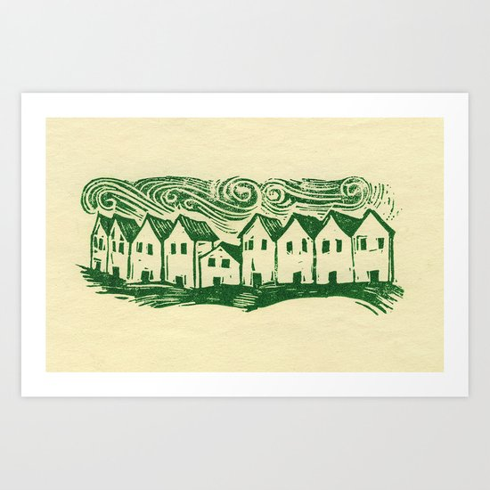 Sad Row Art Print