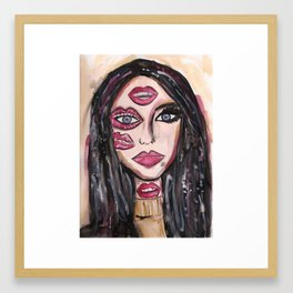 Lip Makeup Framed Art Print