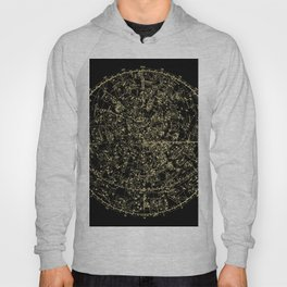 Astro Astronomy Constellations Astrologer Vintage Map Hoody