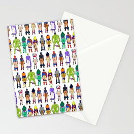 Superhero Butts - Power Couple on Violet Stationery Cards