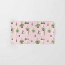 Mother, Macramé I? - Hanging Plants on Pink Hand & Bath Towel