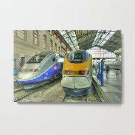 Marseille Trains of Grande Vitesse Metal Print