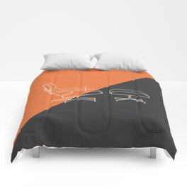 Eames Lounge // Mid Century Modern Minimalist Illustration Comforters