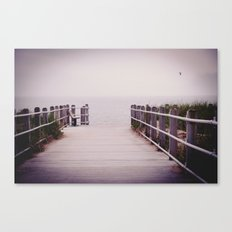 Lonely Beach Day:Color  Canvas Print
