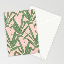 Elegant bamboo foliage design Stationery Cards