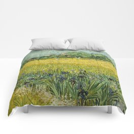 Field with Flowers near Arles by Vincent van Gogh Comforters