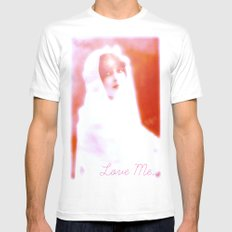 Love Me. Mens Fitted Tee White MEDIUM