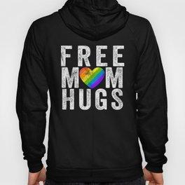 Free Mom Hugs print Rainbow LGBT Gay Pride Flag products Hoody