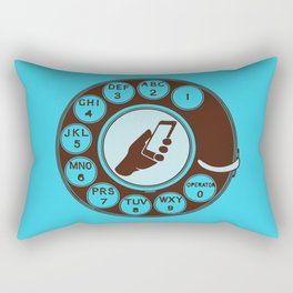 Dial numbers with analoque mobile Rectangular Pillow