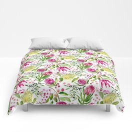 Protea Flower Bloom Comforters