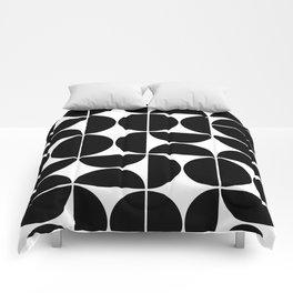 Mid Century Modern Geometric 04 Black Comforters