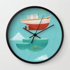 Floating Boat Wall Clock