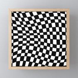 Black and White Distortion Framed Mini Art Print