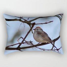 sparrow on branch Rectangular Pillow