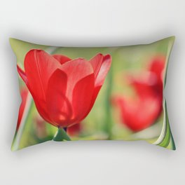 Red tulips in backlight 2 Rectangular Pillow
