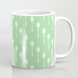 Spoons Pattern (Green) Coffee Mug