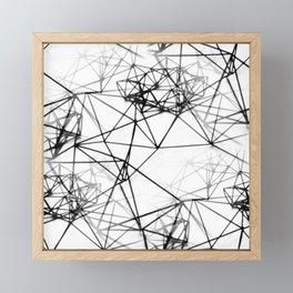 Geometric himmeli ornaments as minimal seamless pattern Framed Mini Art Print