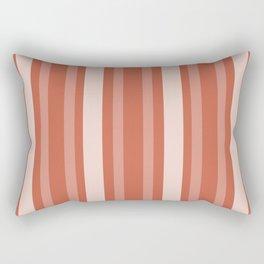 Dark Coral Victorian Lady Stripe Rectangular Pillow