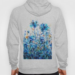 thickets of cornflowers Hoody