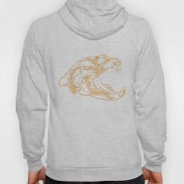 Lion skull with floral ornament Hoody
