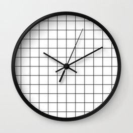 Grid Simple Line White Minimalistic Wall Clock