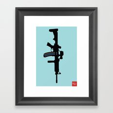 Art not War - Blue Framed Art Print