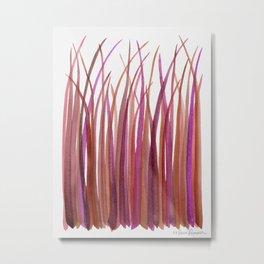 Red Grasses Metal Print