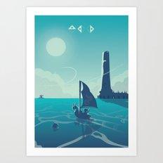 Zelda Wind Waker Art Print